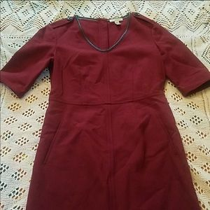 Burgundy Brit Dress